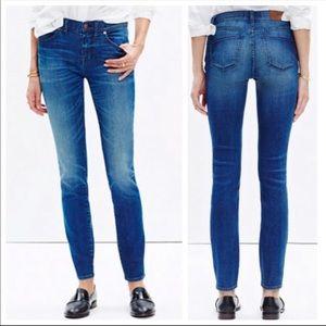 "Madewell 8"" skinny skinny jeans"
